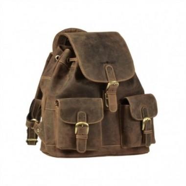 Kožený ruksak Greenburry Stredný