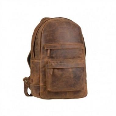 Kožený ruksak na zips Greenburry
