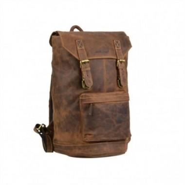 Kožený ruksak s prackami Greenburry