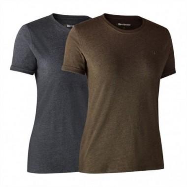 Dámske tričká Deerhunter Ladies Basic 2-pack
