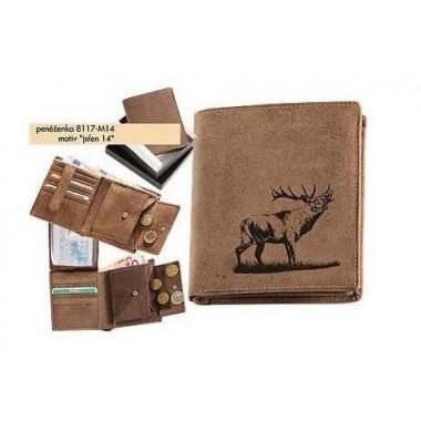 Kožená peňaženka s motívom Jeleňa