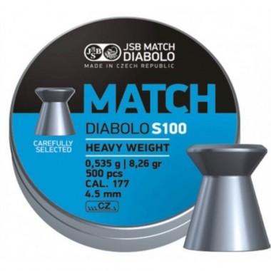 Diabolky JSB MATCH S100 4,5mm