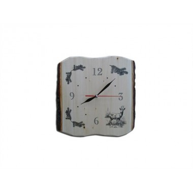 Drevené nástenné hodiny - Srnec