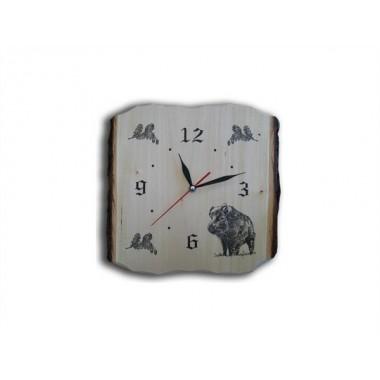 Drevené nástenné hodiny- Diviak