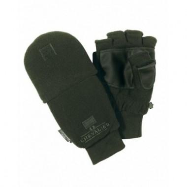 Flísové rukavice Chevalier s chlopňou