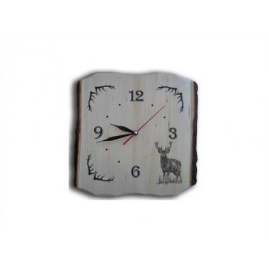 Drevené nástenné hodiny - Jeleň